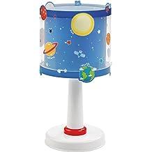 Dalber 41341–Lámpara de mesa planetas del sistema solar, plástico, azul, 15x 15x 30cm