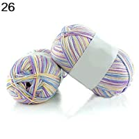50g Super Soft Bamboo Cotton Baby Breathable Hand Knitting Crochet Faux Yarn - 26 qingsb