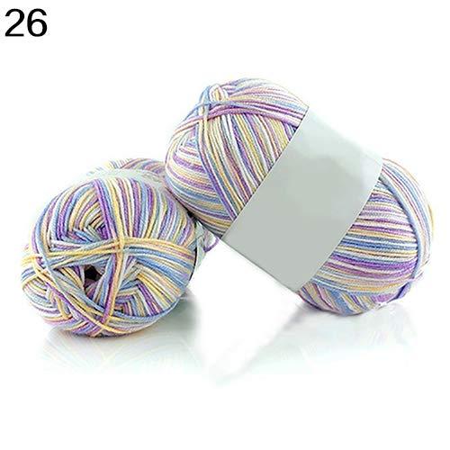 Ovillo de lana sintética de bambú súper suave