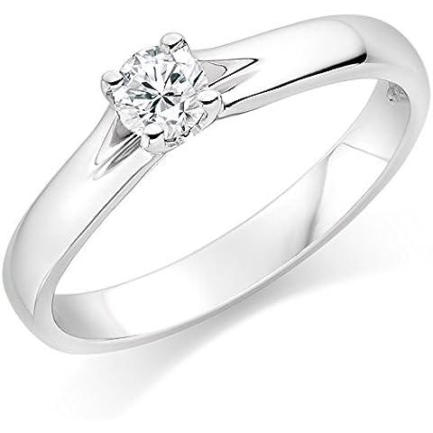 Lilu Jewels 1ct Moissanite anello di fidanzamento Vintage 925massiccio argento sterling da donna matrimonio anello