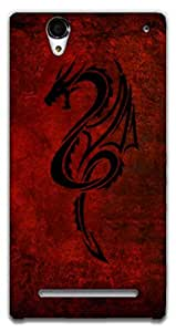 The Racoon Lean Red Dragon hard plastic printed back case / cover for Sony Xperia T2 Ultra