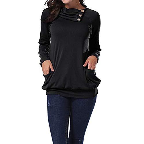 Damen Revers Knopf Plissee Tasche Langarm Top T-Shirt Kurzarm Pullover Fitness Weihnachten Kapuzen High-Necked Street Kapuzen Strickjacke Jacke - Reverse-plissee Hose