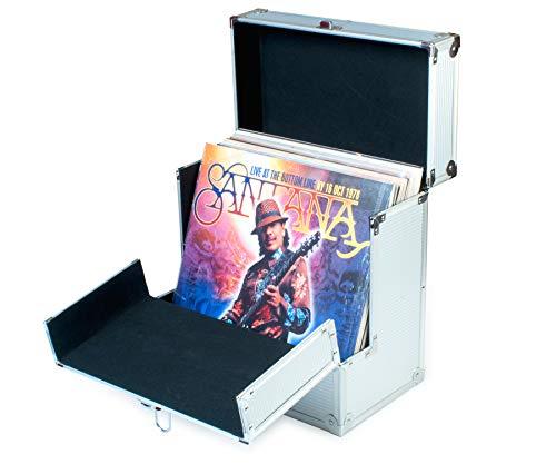 Estuche para discos de vinilo de 30 cm, con solapa abatible en la parte delantera para un mejor acceso a tus LP