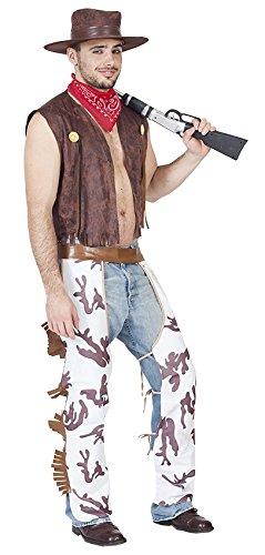 Reiten Kostüm (KOSTÜM - COWBOY - Größe 52 (L), Rodeo Reiten Reiter Wilder Westen Revolvermann)
