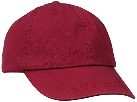 Alternative Men's Basic Chino Twill Cap, Red, One