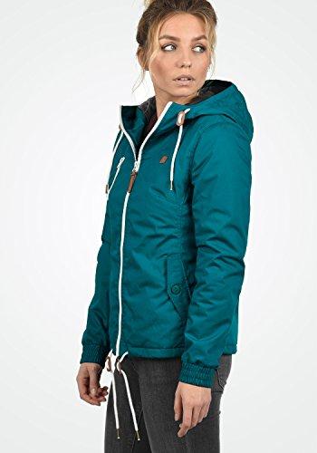 DESIRES Tilda Damen Übergangsjacke Jacke gefüttert mit Kapuze, Größe:XS, Farbe:Dark Petrol (1298) - 3