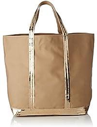 Vanessa Bruno Pochette Holly Cuir Et Coton, Womens Shoulder Bag, Yellow (Tournesol), 3x21x30 cm (W x H L) Vanessa Bruno