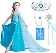 VanStar Snow Queen Dress Girls Party Cosplay Girl Clothing Snow Queen Birthday Princess Dress Kids Costume Blu