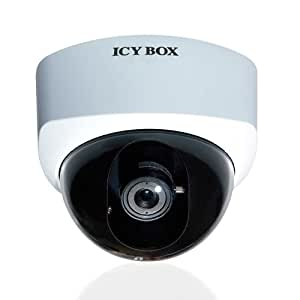 Icy Box IB-CAM2003 11442 Caméra IP pour intérieur 1,3 mégapixel Objectif fixé 6 mm/F1.8 Blanc