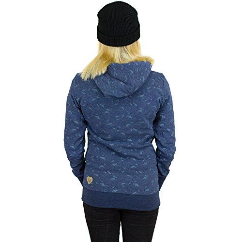 4db344695acb6b Ragwear Beat Print Organic Women Hoody indigo melange -protec-kempten.de