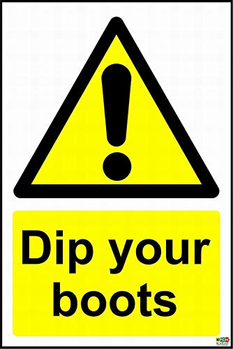 mefoll Notice Sign Safety Tin Metal Sign 8x12 Dip Your Boots Sign Warning Reminder Wall Decor by Dip 12