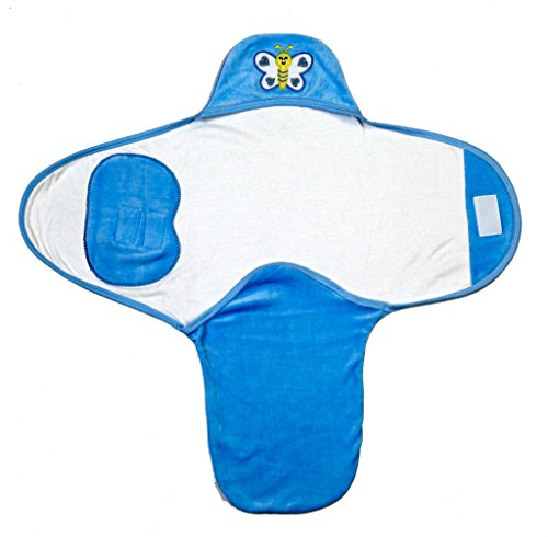Brim Hugs And Cuddles Blue Newborn Cotton Swaddle/Wrap/Sleeping Bag (0-6 Months) for baby