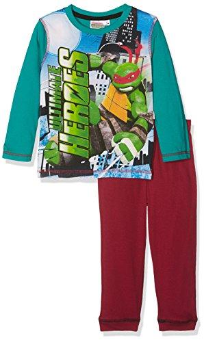Nickelodeon Jungen Ninja Turtles Ultimate Heroes Zweiteiliger Schlafanzug, Grün (Green 17-5330TC), 2-3 Jahre