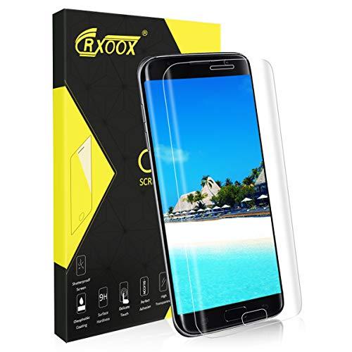 Panzerglas Schutzfolie für Samsung Galaxy S7 Edge, [3D Volle Bedeckung] [Anti-Kratzer/Ultra Resistent] [Einfache Installation] [Blasenfrei] [3D Touch/9H Härte] -für Samsung Galaxy S7 Edge- Transparent