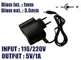 KALEA-INFORMATIQUE  - Alimentation Externe Secteur 220V - Sortie 5V DC 1A - Embout 1 mm x 3.5 mm
