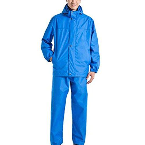 BJYG Regenanzug für Herren Mehrweg-Regenbekleidung (Regenjacke und Regenhosen-Set) Erwachsene Wasserdicht Regenfest Winddicht Kapuzen-Outdoor-Arbeit Motorrad Golf Angeln Wandern Jagd (Farbe: A, G