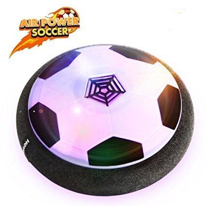 Air Hover Ball Calcio da Interno con Musica - Pallone da Calcio Fluttuante con LED per Giocare in Casa Giocattoli per Bambini Senza Danneggiare Mobili o Pareti --- YACOOL