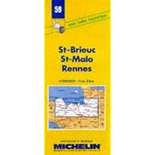 Carte routière : St-Brieuc - St-Malo - Rennes, 59, 1/200000