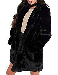 Only Damen Kunstpelz Mantel mit Stehkragen Damenmantel Pelzmantel aus Pelzimitat
