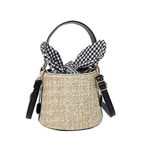 Mitlfuny handbemalte Ledertasche, Schultertasche, Geschenk, Handgefertigte Tasche,Frauen Strand Stroh Eimer Tasche Sackleinen Square Bag Messenger Bag