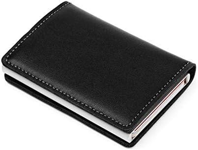 HWX Nuovo Nuovo Nuovo da Uomo con Borsa di Carta con fermasoldi in Pelle Stretch Portafoglio in Alluminio RFID (Coloreee   Nero, Dimensione   9.5cm6.5cm1.2cm) | Buon Mercato  | Delicato  | Forma elegante  a8a5f0