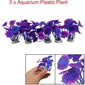 5 Pcs Decorative Plastic Plant For Aquarium Fish Tank by sourcingmap