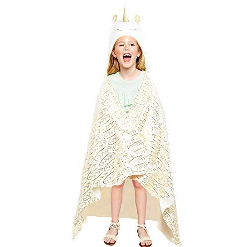 Einhorn Cozy Umhang für Erwachsene und Kinder Snuggle Decke Folienprägung Feather Pattern,...