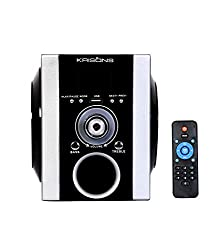 Krisons AWONS003 Portable Multimedia Speaker with FM,USB and AUX IN,(Black,SILVER)