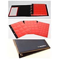 Schulz NEW BLACK ROYAL COIN ALBUM with inserts for 221 coins Red card divider 10 pages
