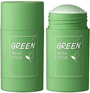 URBANMAC Green Tea Purifying Clay Stick Mask, And Deep Cleansing Oil Control And Anti-Acne Solid And Fine, Exfoliating Mask 40g