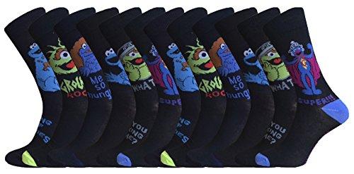sesame-street-homme-6-ou-12-paires-de-cookie-monster-grouch-et-grover-modeles-chaussettes-lot-de-12