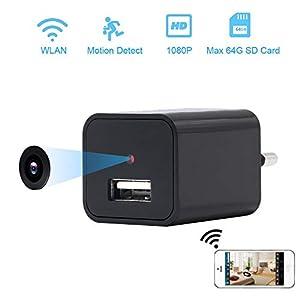camara espia graba 8 horas: Cámara Espía Wifi LXMIMI USB Wall Charger Cámara Espía eléfono Adaptador Inalámb...