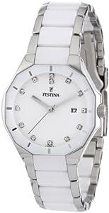 Reloj Festina F16399/1 de pulsera para mujer (mecanismo de cuarzo, esfera blanca y correa de acero inoxidable multicolor) de Festina
