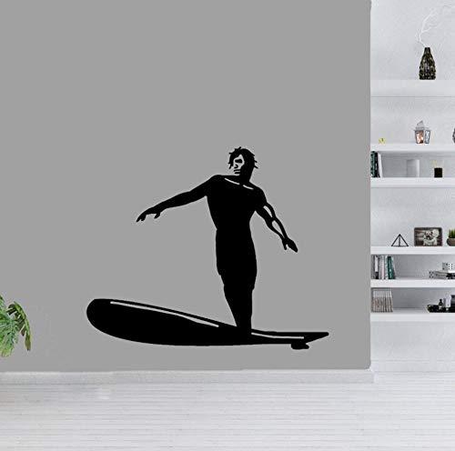 Wandsticker Aufkleber Wohnzimmer Garderobe Flur Fenster Wohnung Kinderzimmer Badezimmer Am Coolsten Surfen 47X39Cm