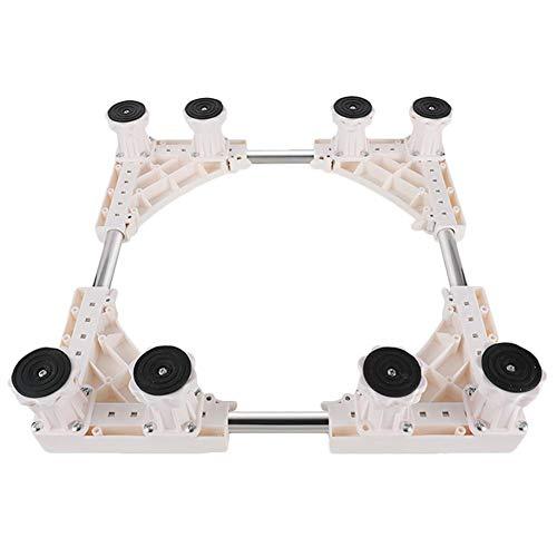 EZIZB Gefäßroller Platz Holz Rolluntersetzer Multifunktionale Verstellbare Basis Für Waschmaschine Kühlschrank Blumentopf -