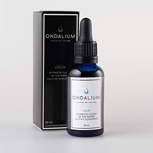 Ondalium CALM | Extracto fluido relajante con AJO NEGRO ecológico (1 mes) - Producto natural para el SISTEMA NERVIOSO. Ayuda a personas con ANSIEDAD y en alteraciones del sistema nervioso