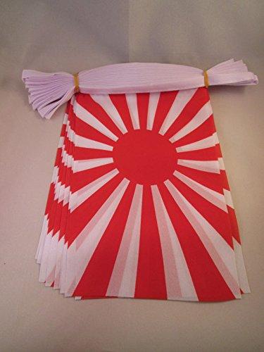 AZ FLAG Guirnalda 12 Metros 20 Banderas del JAPÓN WWI DE Guerra 45x30cm - Bandera Japonesa Imperial 30 x 45 cm - BANDERINES