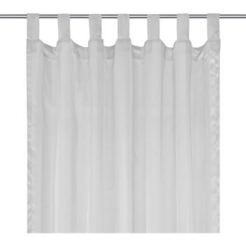 Voilage à passants - rideau - Pattes - à rayures clair et foncé - Stockholm - 145x245cm - Argent gris