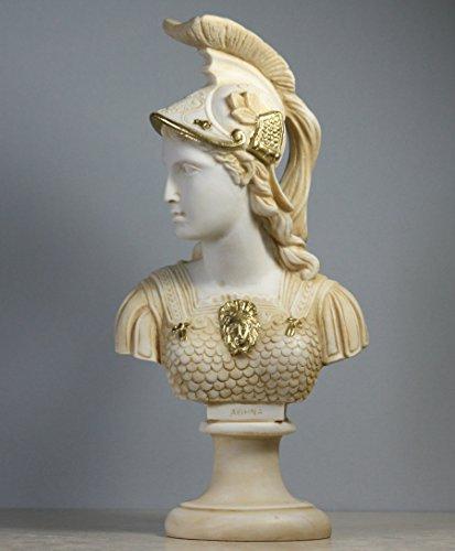 greekartshop Athene Déesse de la Sagesse Athena Minerva Buste Tête Statue Sculpture 250 ΄ ΄