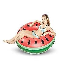 120cm Hijos Adultos de las axilas sandía buñuelo del anillo piscina inflable flotador juguete del verano Water Fun engrosamiento del flotador del asiento