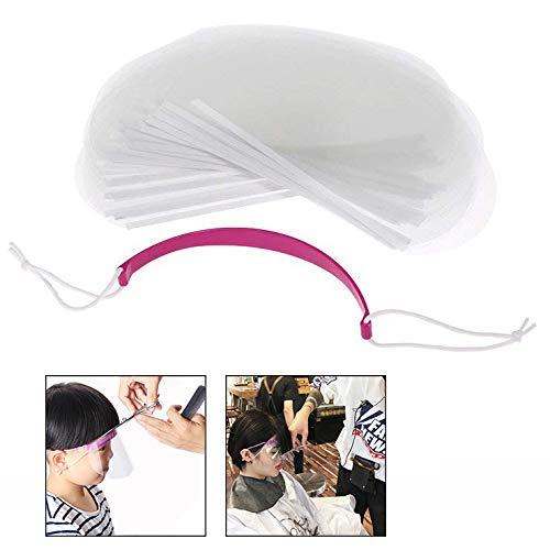 Xrten 50 Stück Friseur Transparent Gesichtsschutz,Gesichtsschutz Haarspray Haar Schneiden Werkzeug