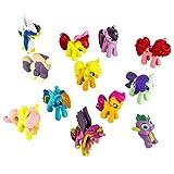 Little Pony Kuchen, Topper (12Stück) Scherbenwelt: Geburtstag Party Dekoration für Kinder, Pony Figuren für Jungen und Mädchen, bunt, Pferd Spielzeug für Cupcakes, Cute Pony Ornaments