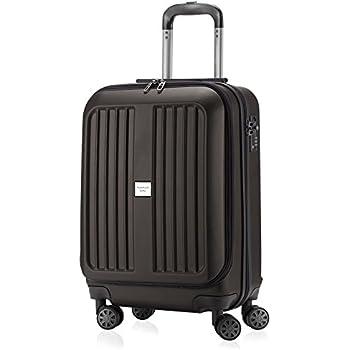 112e2b423af HAUPTSTADTKOFFER - X-Berg - Carry on luggage On-Board Suitcase Cabin Bag  Hardside Spinner Trolley 4 Wheel, TSA, 55 cm,Graphite mat