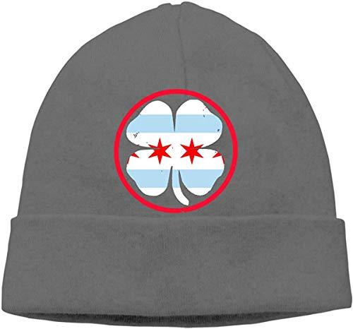 Unisex Irish Chicago Flag Outdoor Warm Beanies Hat Soft Winter Skull Caps one9510 -