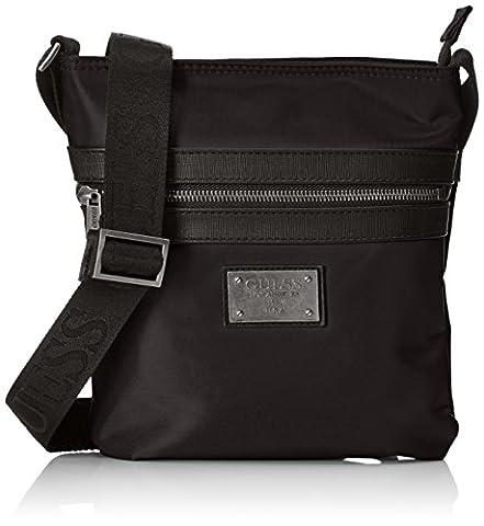 Guess Heritage, sac messenger homme - noir - noir, 1x25.5x22 cm (W x H x L) EU
