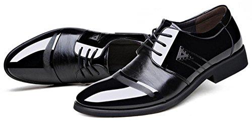HYLM HYLM per uomo scarpe oxford Più le scarpe da sposa taglia Scarpe Stringate Uomo Black