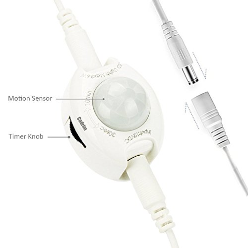 Cadrim cama luz tira led con sensor detector de movimiento for Luz con detector de movimiento