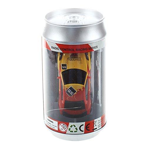 SODIAL(R) MINI MICRO RC CAR Radio Controlled 1:58 CAN BOX SERIAL SHEN QI WEI Giallo e rosso