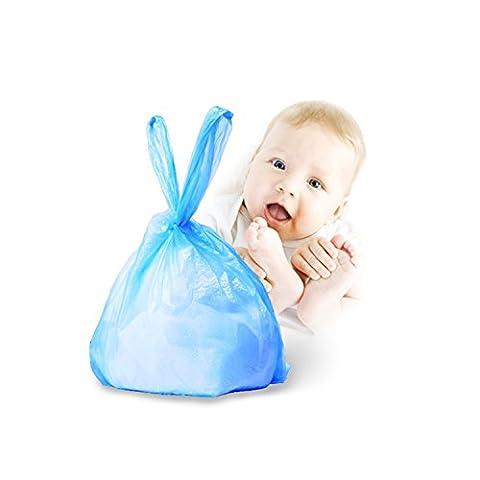 Sacs poubelle à couches, Yuanquan Bleu parfumée bacs à langer de voyage Sacs à couches Lot de 90