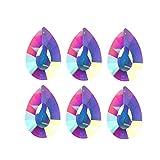 H&D Kristall Tropfen Prismen Kronleuchter Träne Anhänger/Behang/Pendel Lampe Kerzenleuchter Teile, colorful 2, 76 mm, 5 Stück
